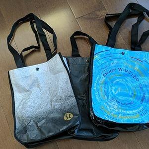 Lot of 3 Lululemon reusable bags
